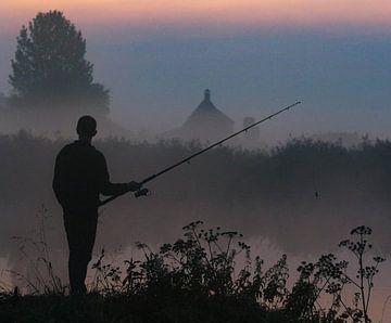 Visser in de mist van Anita van Gendt