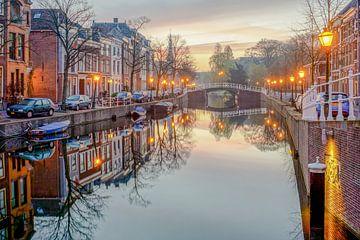 Brug in Leiden van Dirk van Egmond