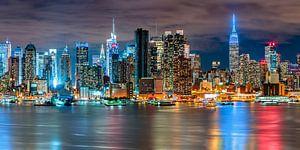 New York Skyline Panorama van Sascha Kilmer