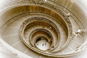 Staircase, wenteltrap in het Vaticaanmuseum, Rome, Italy von Martin Stevens