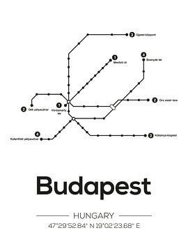 Boedapest Metrolijnen van Michelle van Seters