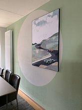Klantfoto: Circuit Zandvoort van Goed Blauw, op print op doek