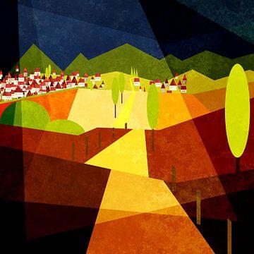 Golden landscape 2021 von Andreas Wemmje