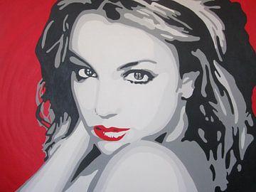 Britney Spears popart sur anja verbruggen