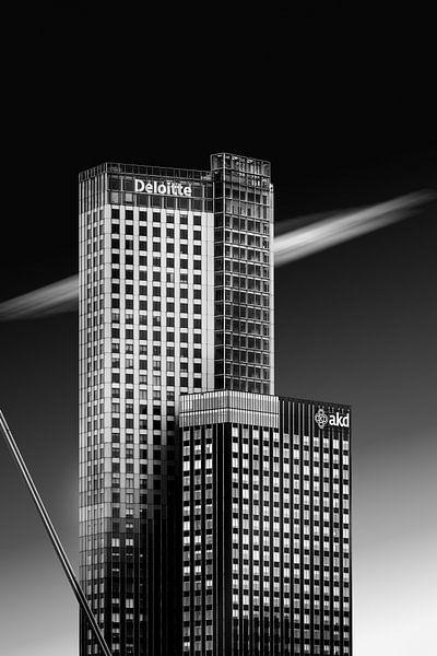 Maastoren in zwart wit van Prachtig Rotterdam