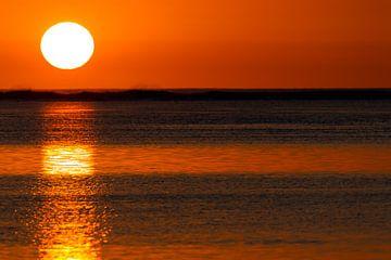 Mauritius zonsondergang van Dirk Rüter