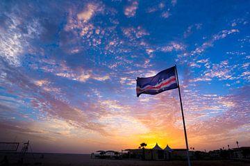 Vlag van Kaapverdië van Koen Boelrijk Photography