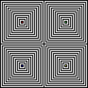Genesteld | Center | 02x02 | N=12 | RGBY van Gerhard Haberern