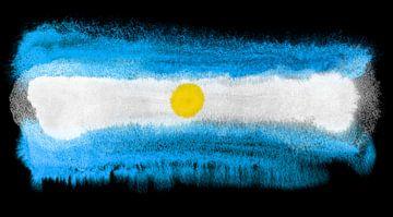 Symbolische nationale vlag van Argentinië van Achim Prill