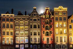 Damrak, de Dansende huizen van Sander Meertins