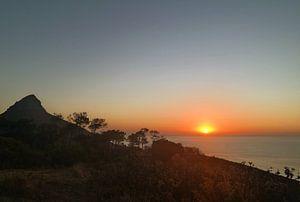 Zonsondergang aan zee van Stijn van Kester