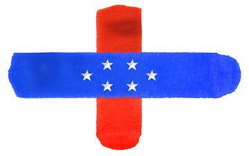 Symbolische nationale vlag van de Nederlandse Antillen van Achim Prill