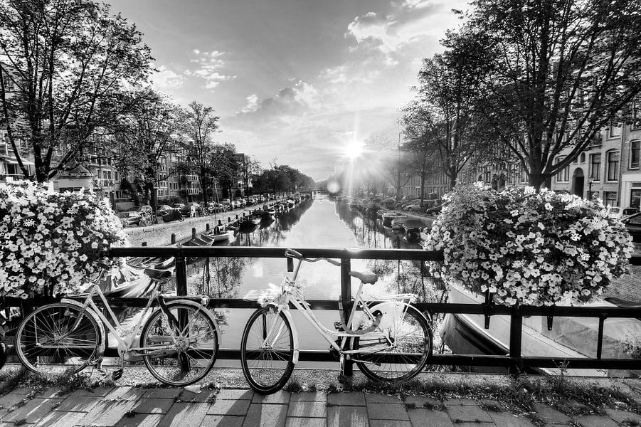 Amsterdam zonnige brug