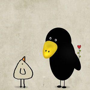 eine Herzblume für Dich-Piepvogel