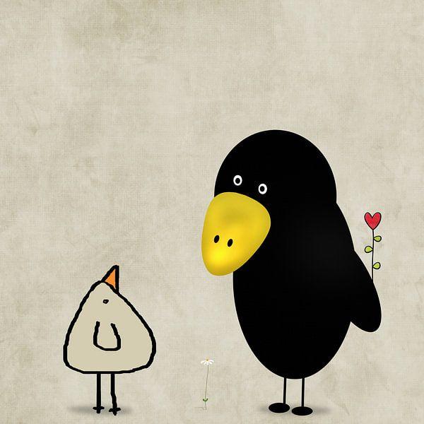 een hart bloem voor u van Marion Tenbergen