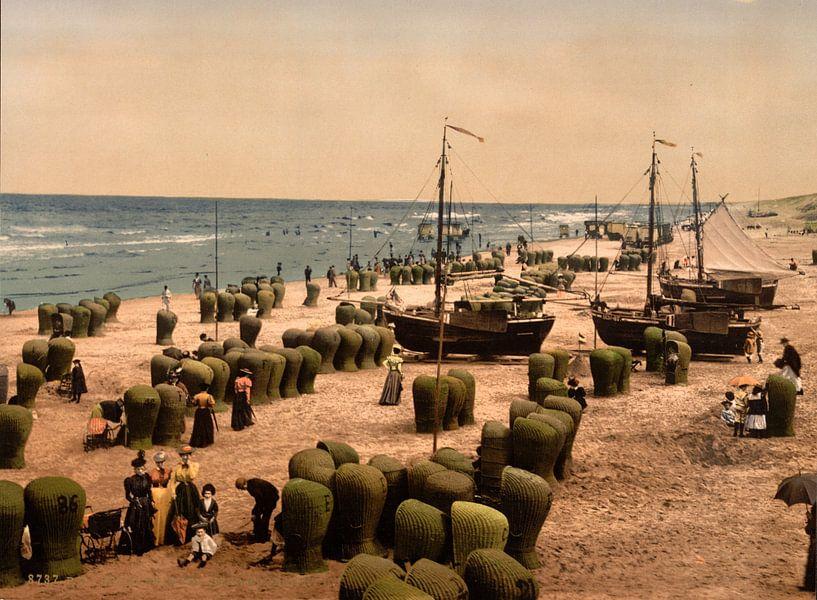 Strand van Scheveningen van Vintage Afbeeldingen