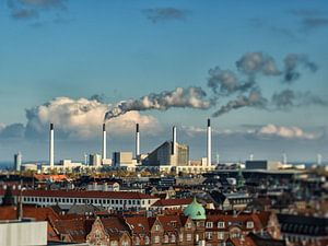 The rooftops of Copenhagen