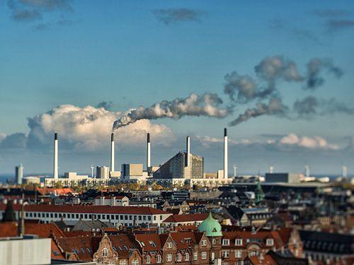 The rooftops of Copenhagen van