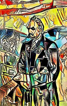 Portret Friedrich Nietzsche van zam art