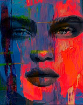 Gewoon gezicht - Ultra HD Abstracte Game 377 van Felix von Altersheim