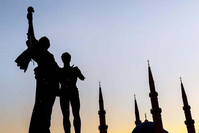 Martelaars' Monument - Beiroet, Libanon van Bart van Eijden