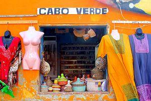 Kleurrijk winkeltje in Afrikaanse sfeer, Cabo Verde