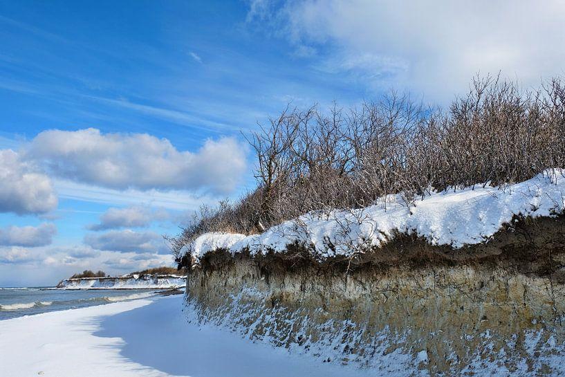 Winter an der Steilküste Rügens von Ostsee Bilder