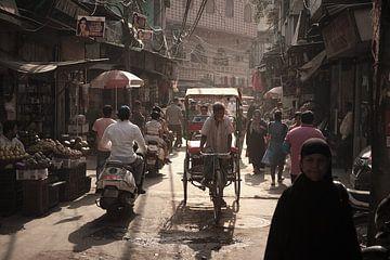 riksja in Delhi van Karel Ham