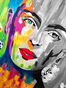 Frida Kahlo Duo Gezicht van Kathleen Artist Fine Art