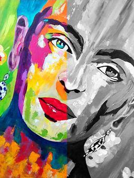 Frida Kahlo Duo Gesicht von Kathleen Artist Fine Art
