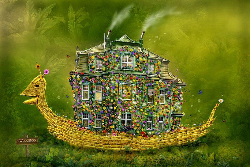 Die Schnecke mit Blumen Haus nach Woodstock ! von Stefan teddynash