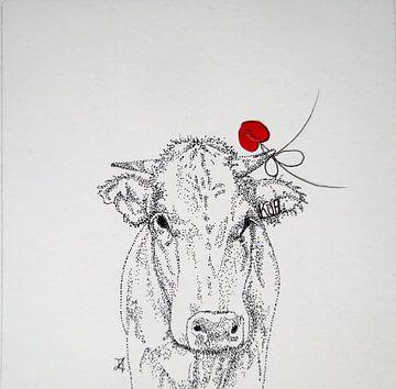 HeartFlow Koe 1 van Helma van der Zwan