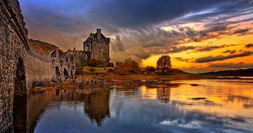 Eilean Don Castle in Dornie Scotland van