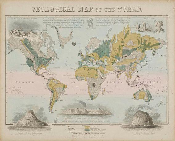 Geografisch schema: Geologische kaart van de wereld, John Emslie....