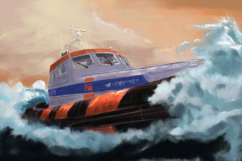 Recherche et sauvetage en mer. sur Jan Brons