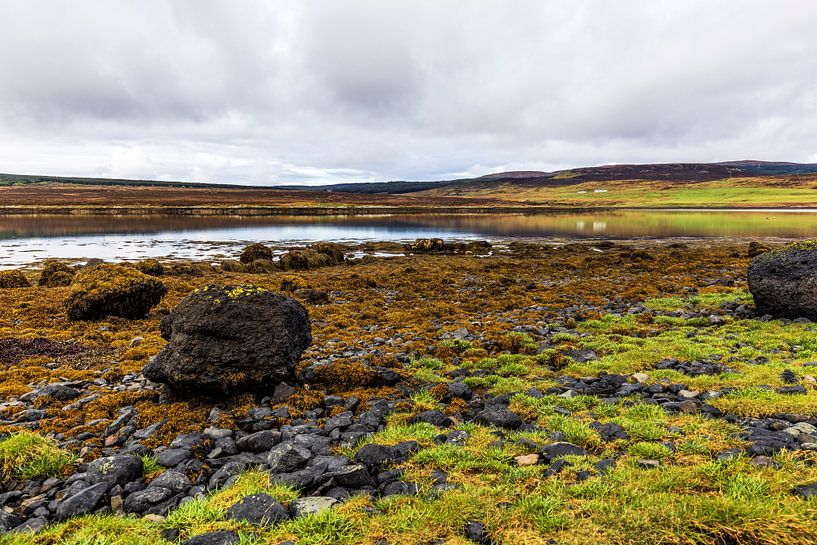 Eb bij Loch Greshornish, Isle-of-Skye Schotland van Remco Bosshard
