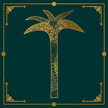 Style Art Déco Palm Green Gold sur Andrea Haase