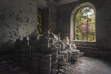 Verzameling potten van