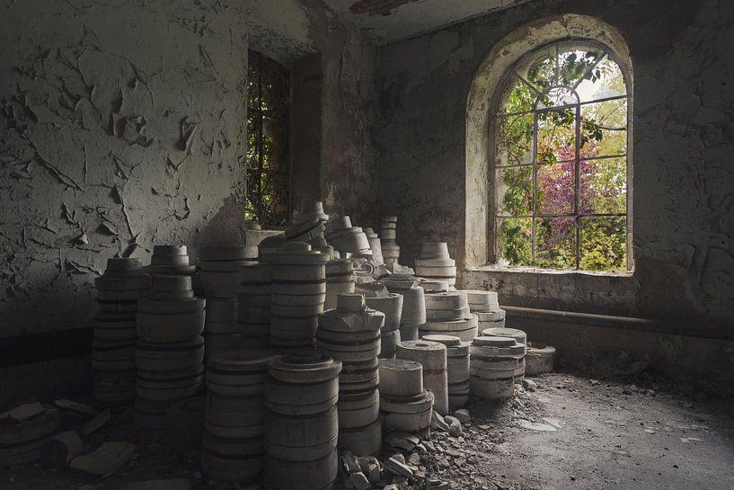 Verzameling potten van Perry Wiertz