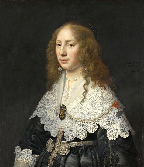 Portret van Aegje Hasselaer, Michiel Jansz. van Mierevelt van Meesterlijcke Meesters