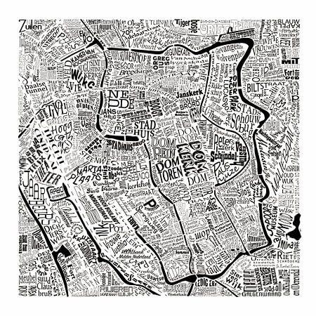 Plattegrond Utrecht in woorden: Uniek beeld van De Domstad van Nederland: