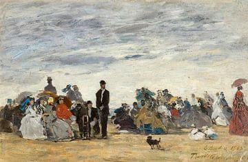 Der Strand von Trouville, Eugène Boudin