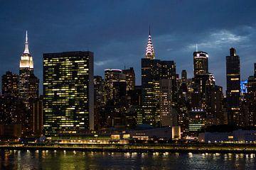 Die Skyline von Manhattan - New York City - mit dem Empire State Building, Büro der Vereinten Nation von WorldWidePhotoWeb