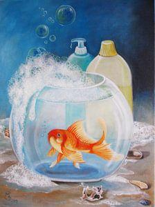 Bubble bath with lemon scent