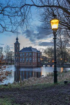 Kasteel Bouvigne in Breda met lantaarnpaal tijdens zonsopgang van Rossum-Fotografie