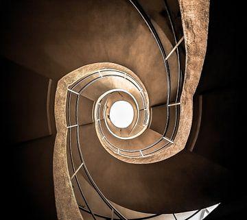 Treppe mit doppelter Schraube von Olivier Van Cauwelaert