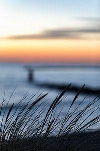 Noordzee strand bij Brouwersdam Zeeland