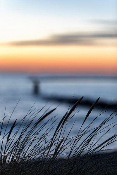 Noordzee strand bij Brouwersdam Zeeland van Rob van der Teen