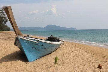 Boot op strand van Mark de Kievith