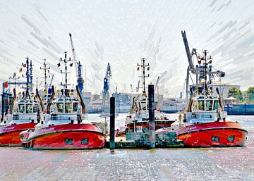 Hafenschlepper von Leopold Brix